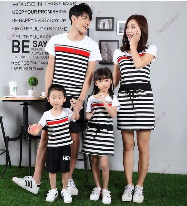 Áo váy gia đình mùa hè