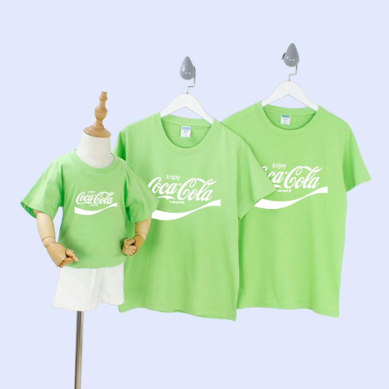Set áo đồng phục Cocacola màu xanh tươi sáng thiết kế cách điệu