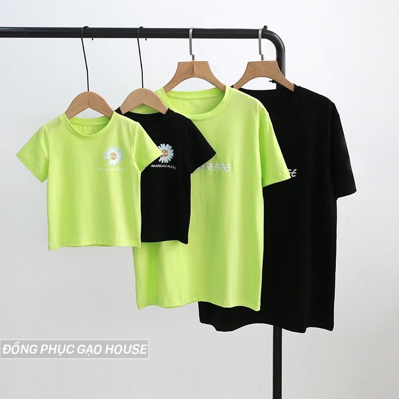 Mẫu áo gia đình Hoa cúc - họa tiết họa tiết hình in Hot nhất hè 2020