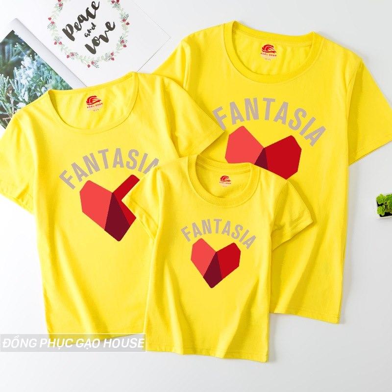 Áo đồng phục in hình mảnh ghép trái tim
