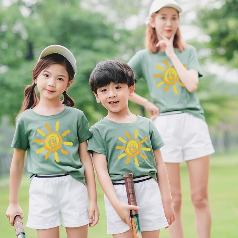 Set áo gia đình phối màu theo tone lạnh