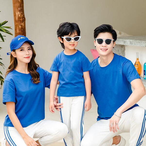 Áo gia đình màu xanh bích