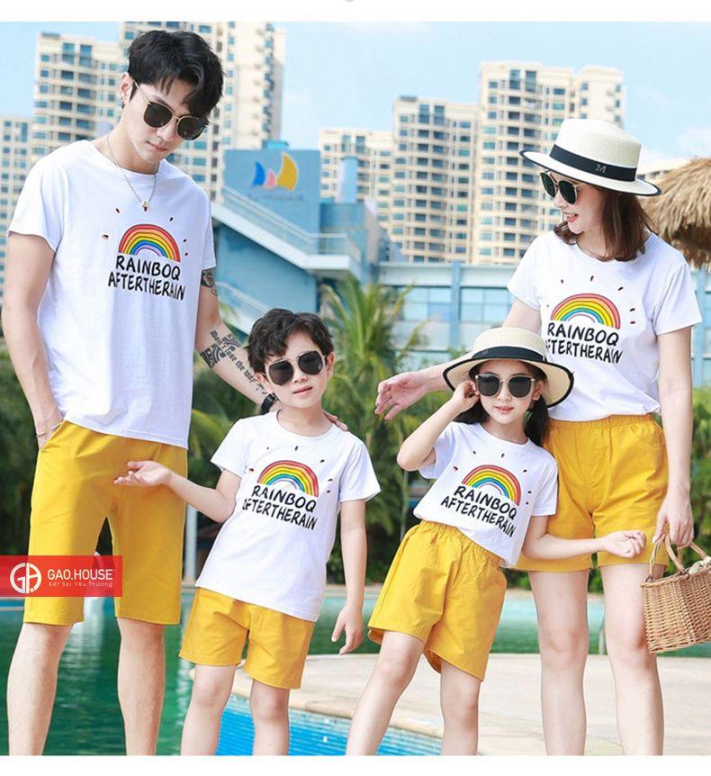 Bộ quần áo gia đình đi biển RaijnBoq cho 4 người