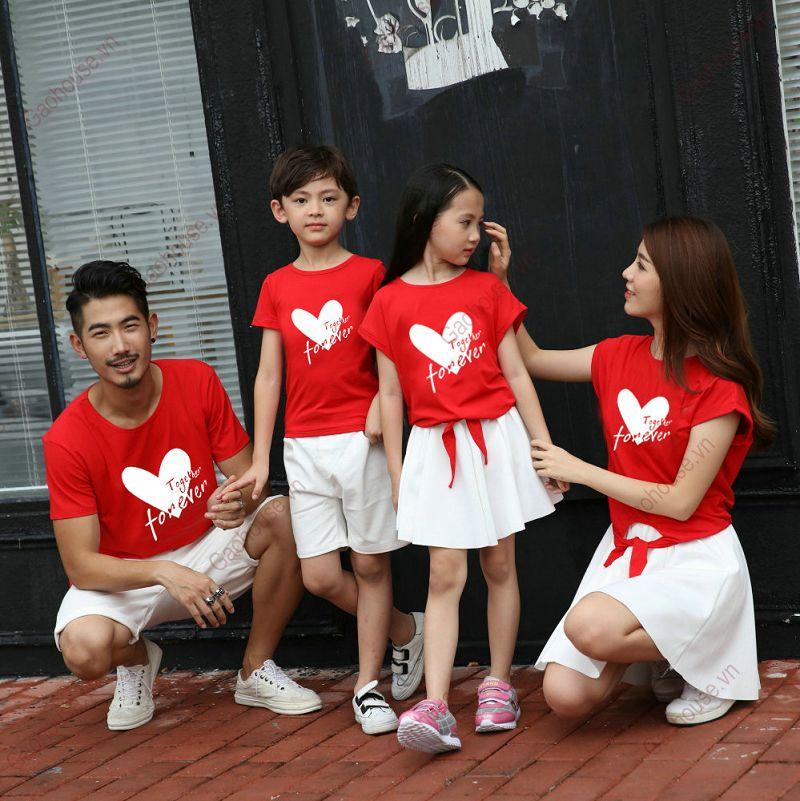 1_áo thun gia đình