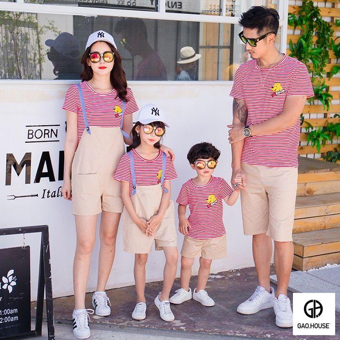 1_áo đồng phục gia đình mùa hè