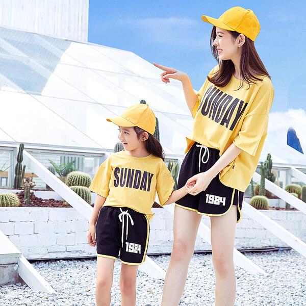 áo đôi gia đình mùa hè cho mẹ và bé
