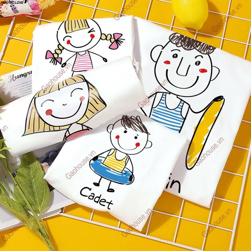 áo gia đình hoạt hình