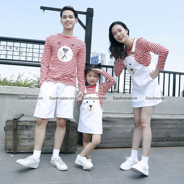 Áo đôi, áo cặp gia đình 3 người