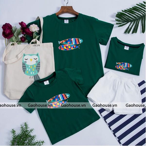 1_áo thun gia đình mùa hè