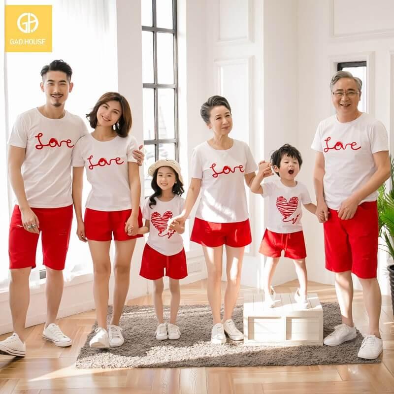 5_Áo đại gia đình mùa hè AGD001800 màu trắng