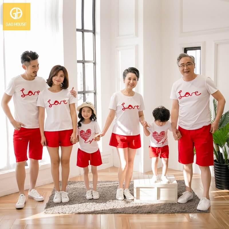 4_Áo đại gia đình mùa hè AGD001800 màu trắng