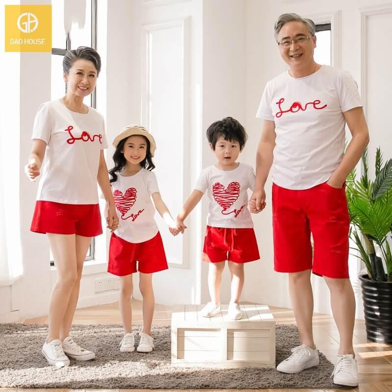 2_Áo đại gia đình mùa hè AGD001800 màu trắng