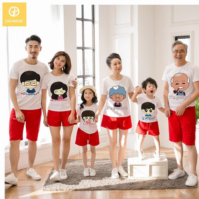 1_Áo đại gia đình mùa hè AGD001800 màu trắng