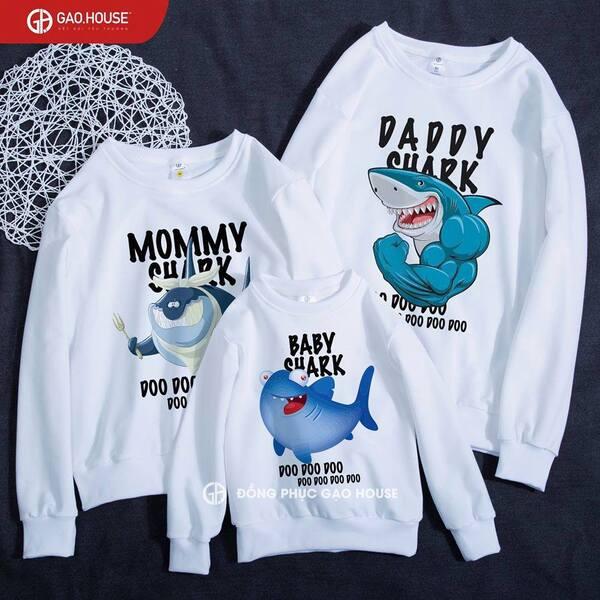 áo gia đình mùa đông in hình cá heo