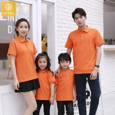 2_Áo gia đình có cổ màu cam AGD0031
