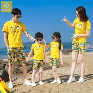 Áo gia đình đi biển Happy Day (1)