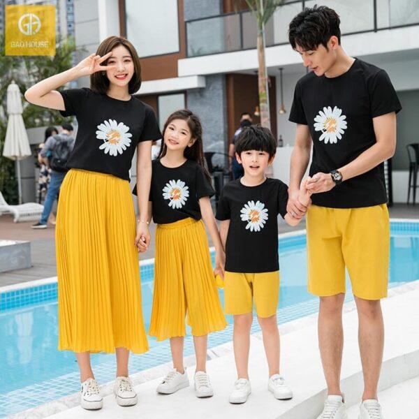 Áo gia đình đi biển hoa cúc hot trend AGD0058 (3)