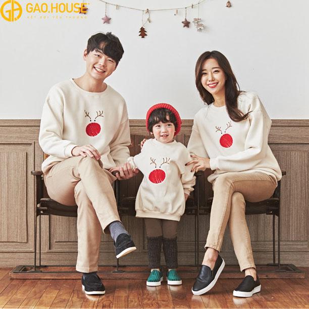 áo gia đình mùa đông in hình
