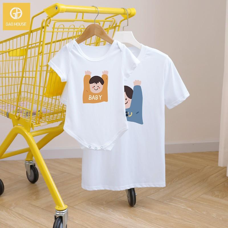 3_áo gia đình mùa hè AGD0016 màu trắng