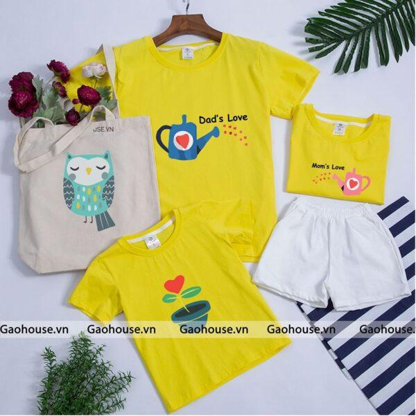 1_áo gia đình mùa hè dad love mom love AGD0003 nhiều màu
