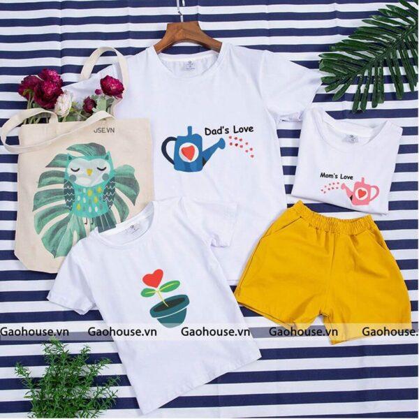 2_áo gia đình mùa hè dad love mom love AGD0003 nhiều màu