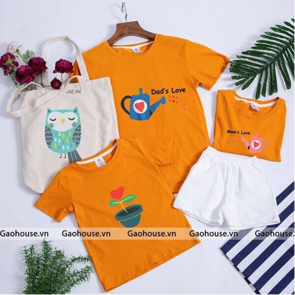 3_áo gia đình mùa hè dad love mom love AGD0003 nhiều màu