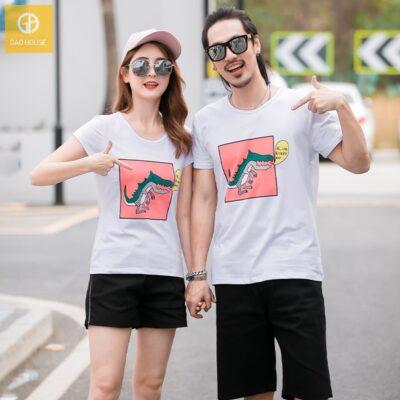 3_áo gia đình mùa hè hình khủng long AGD0009 màu trắng