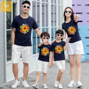 1_áo gia đình mùa hè hình sưu tử AGD0006