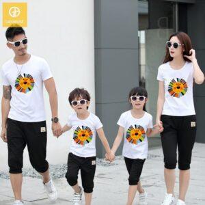 2_áo gia đình mùa hè hình sưu tử AGD0006