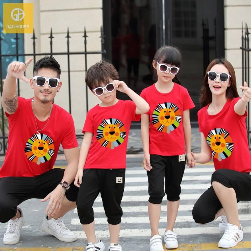 3_áo gia đình mùa hè hình sưu tử AGD0006