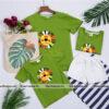 5_áo gia đình mùa hè hình sưu tử AGD0006