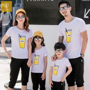 1_áo gia đình mùa hè lemon AGD0008 màu trắng