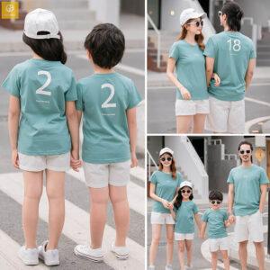 2_áo gia đình mùa hè màu xanh ve AGD0021