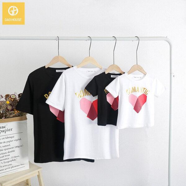 2_áo gia đình mùa hè romantic trái tim AGD0019