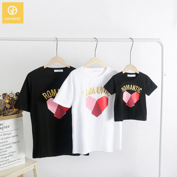 3_áo gia đình mùa hè romantic trái tim AGD0019
