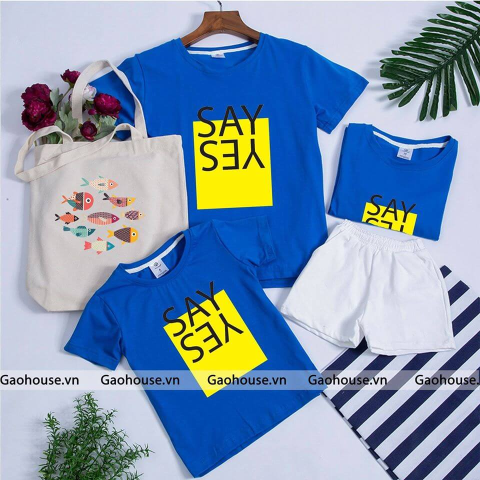 áo gia đình mùa hè Yes Say AGD0004