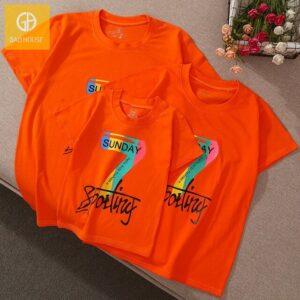 2_áo gia đình mùa hè seven sunday AGD0010 màu cam