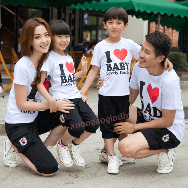 2_áo phông gia đình
