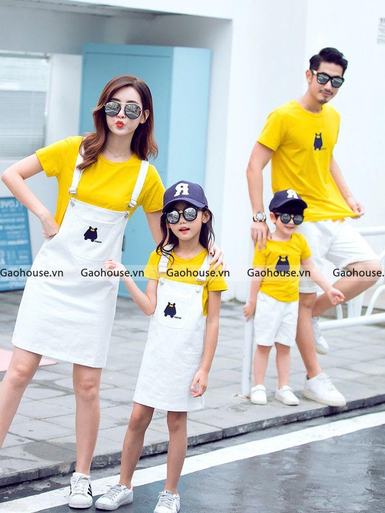 áo váy đồng phục gia đình cao cấp
