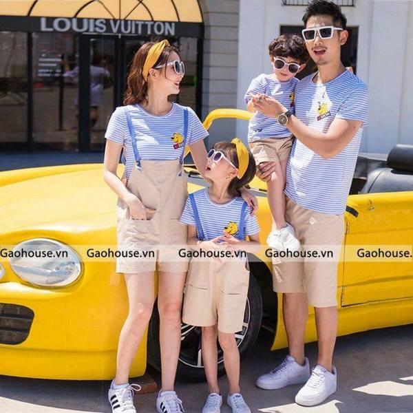 9_mẫu áo gia đình màu hè