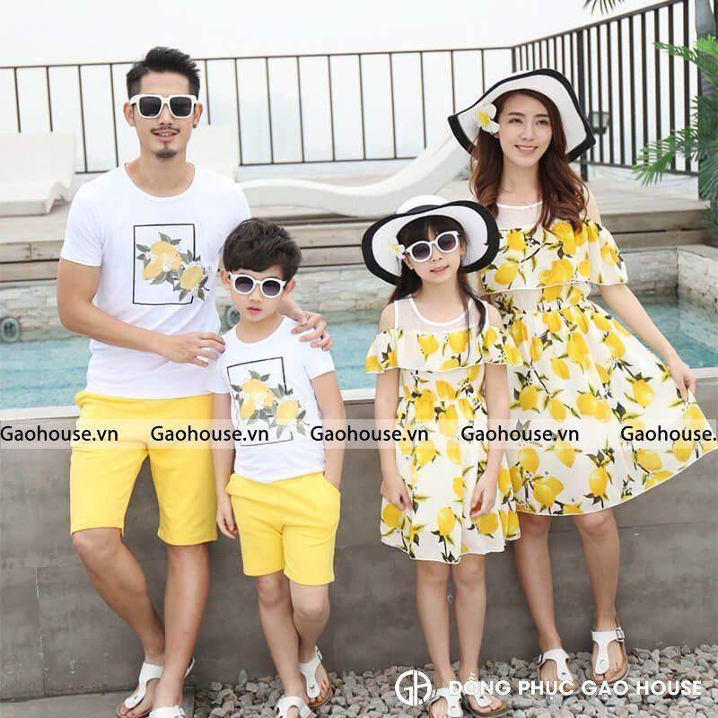 2_bộ áo váy gia đình cao cấp