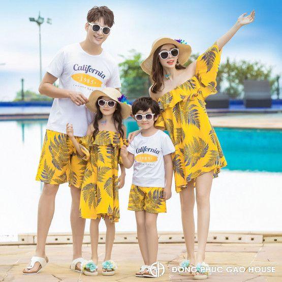 1_áo váy đồng phục gia đình