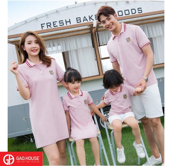 Set áo váy đầm suông cho gia đình đi dã ngoại