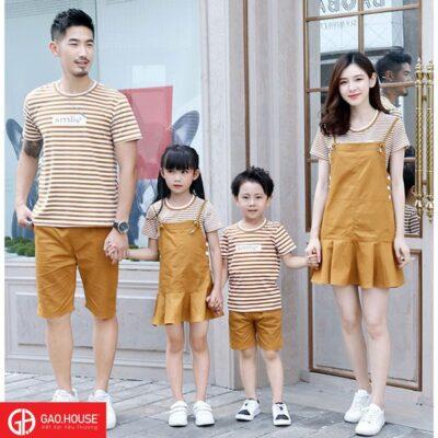 áo gia đình đầm yếm