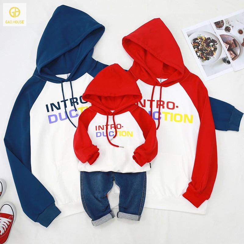 Mẫu áo gia đình hoodie mùa đông hot mới nhất tại Gạo House
