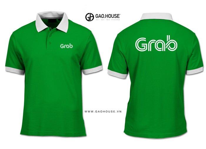 Mẫu áo đồng phục nhân viên Grab màu xanh thương hiệu đặc trưng không chỉ thu hút mà còn tạo cảm giác thoải mái, dễ chịu cho người nhìn