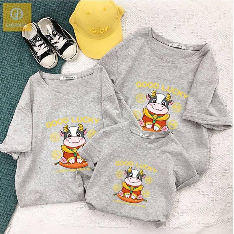 áo phông gia đình tết 2021 muối tiêu