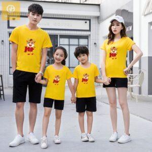 Áo gia đình Tết 4 người